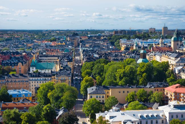 Vy över centrala Stockholm