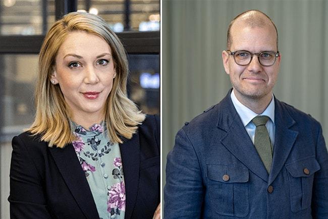 Frida Bratt, sparekonom Nordnet och Joakim Bornold Söderberg & partner