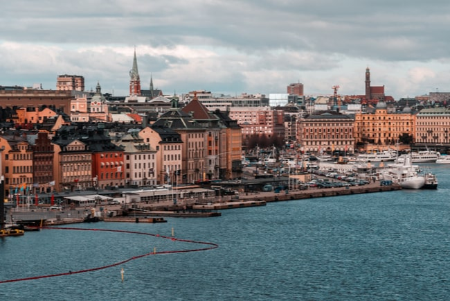 Stockholms stadskärna på avstånd