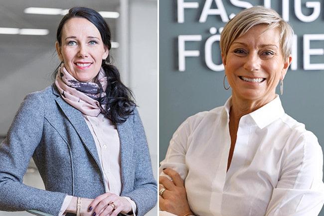 Kollage Annika Winsth chefsekonom Nordea och Liza Nyberg vd svensk fastighetsförmedling