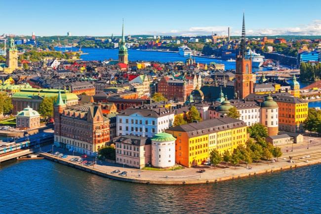 Utsiktvy över Stockholm