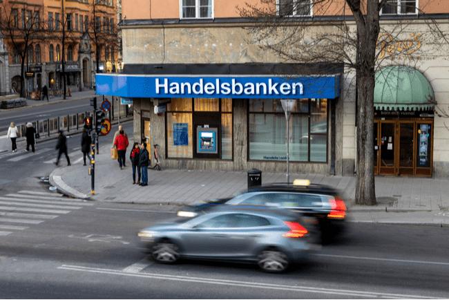 Handelsbankens kontor i hörnet Sveavägen Odengatan i Stockholm
